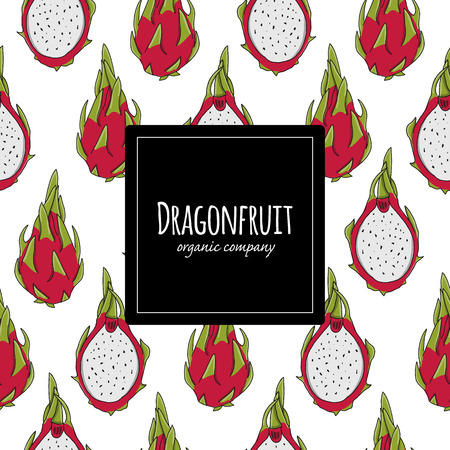 Dragonfruits, seamless pattern for your design