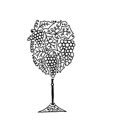 Wineglass, sketch for your design