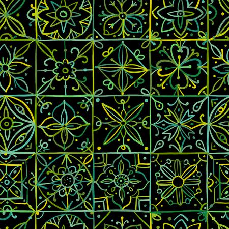 Abstract geometric seamless pattern for your design. Vector illustration Векторная Иллюстрация