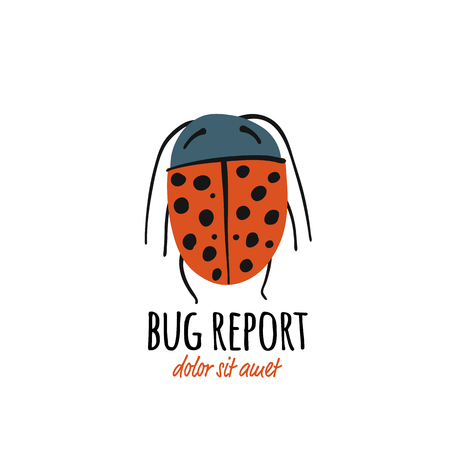 Funny beetle, bug character for your design