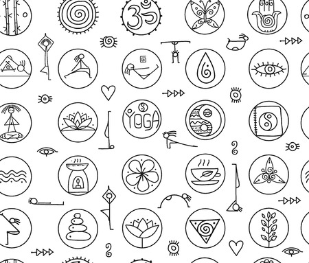Yoga concept, seamless pattern for your design