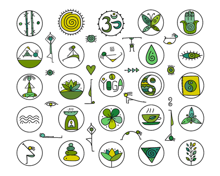 Yoga icons for your design