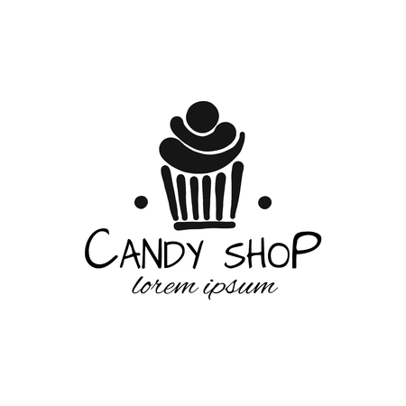 Candy shop concept for your design. Vector illustration Ilustração Vetorial