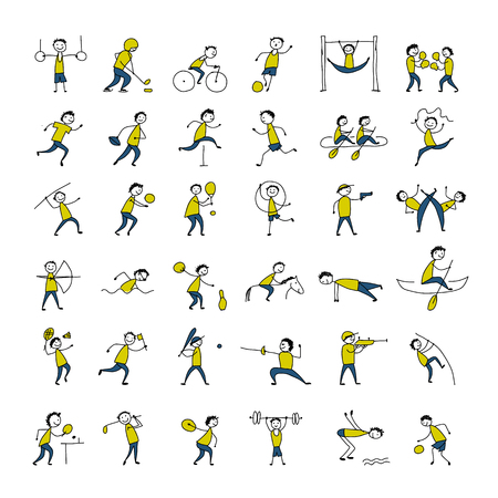 Sport and hobby, icons set for your design Banque d'images - 121540725