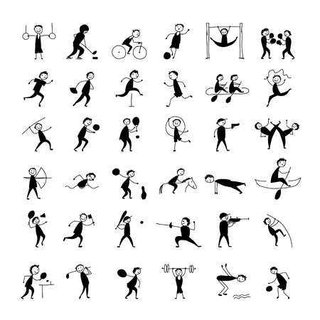 Sport and hobby, icons set for your design Banque d'images - 121540758