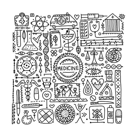 Medical abstract background for your design. Vector illustration Illustration