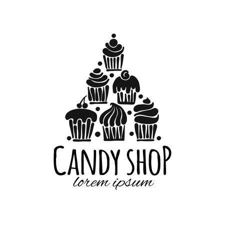 Candy shop concept for your design Illustration