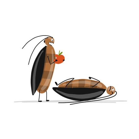 Funny cockroaches for your design
