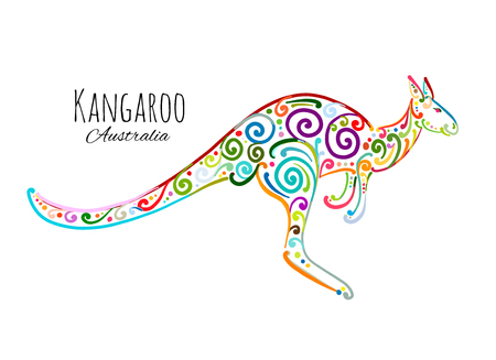 Ornate kangaroo, sketch for your design.