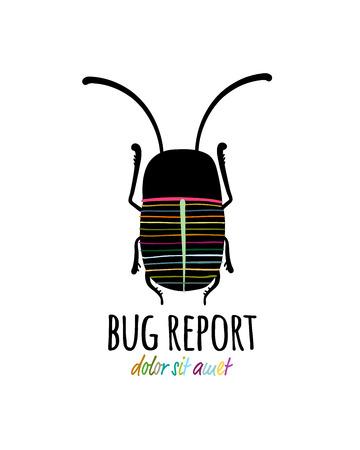 Icono de escarabajo divertido para su diseño Ilustración de vector