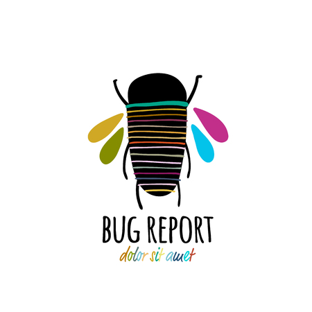 Funny beetle icon for your design 스톡 콘텐츠 - 122107495