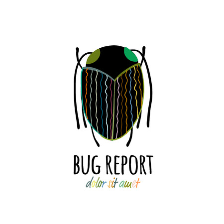 Funny beetle icon for your design 스톡 콘텐츠 - 122107506