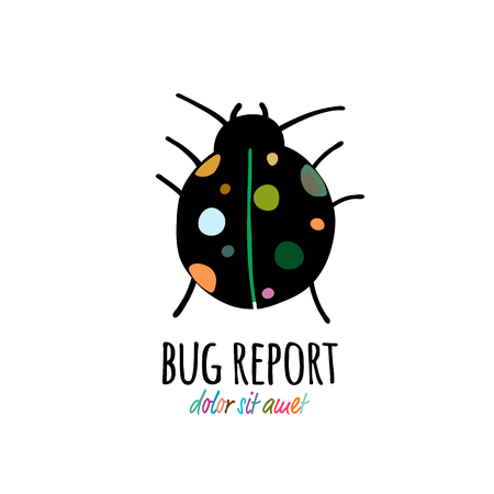 Funny beetle icon for your design 写真素材 - 122107565