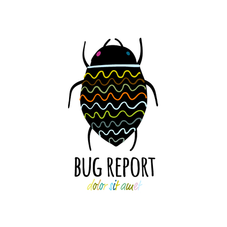 Funny beetle icon for your design