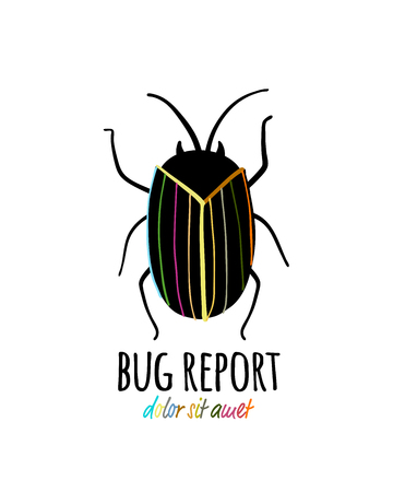 Funny beetle icon for your design 스톡 콘텐츠 - 122107626
