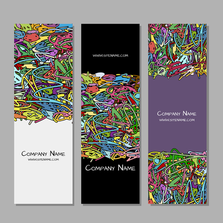 Banners design, colorful abstract background