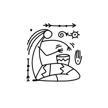 Folk ethnic dance for your design. Vector illustration Foto de archivo - 122479777