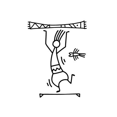 Folk ethnic dance for your design. Vector illustration Archivio Fotografico - 122479779