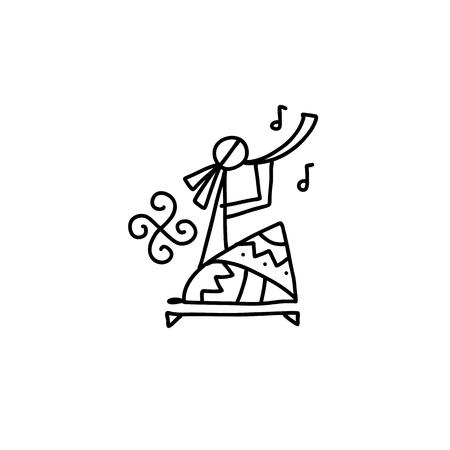 Danse ethnique folklorique pour votre conception. Illustration vectorielle Vecteurs