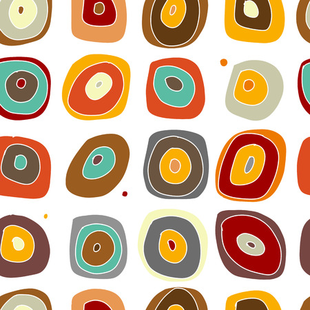 Abstract circles, seamless pattern for your design. Vector illustration 스톡 콘텐츠 - 128174946