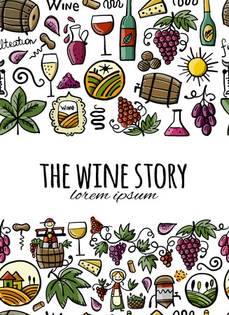 Winery, seamless pattern for your design Stock Vector - 122257946
