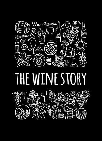 Winery concept, background for your design Foto de archivo - 122257950