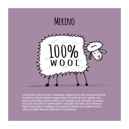 Merino sheep, sketch for your design