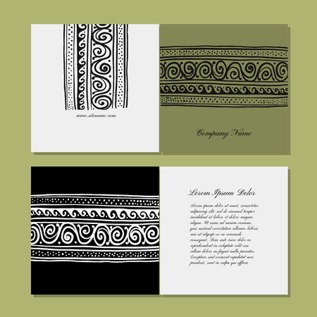Greeting card design, ethnic handmade ornament