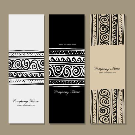 Banners design, ethnic handmade ornament