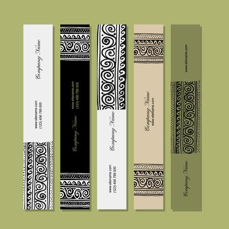 Banners design, ethnic handmade ornament Ilustracja