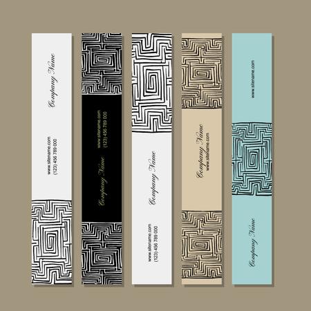 Banners design, labyrinth square. Vector illustration