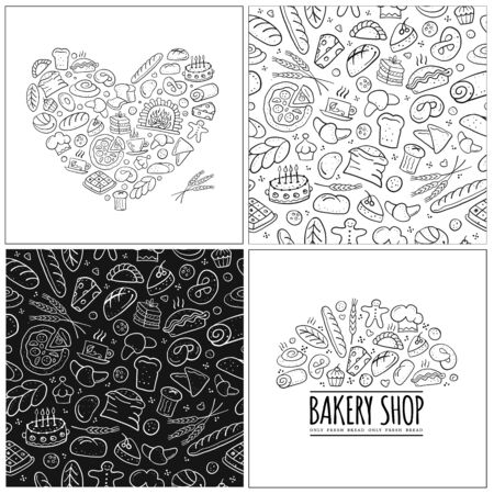 Bakery set, logo and pattern for your design