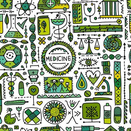 Medizinischer abstrakter Hintergrund, nahtloses Muster für Ihr Design