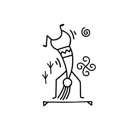 Folk ethnic dance for your design. Vector illustration Archivio Fotografico - 128175080