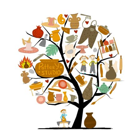 Pottery studio, concept tree for your design