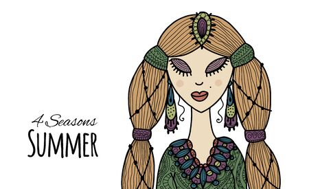 Female beauty, summer style for your design