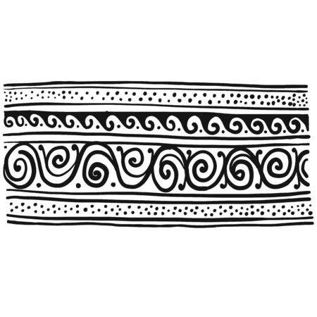 Abstract vintage border, background for your design. Vector illustration Banque d'images - 128175190