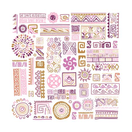 Ethnic handmade ornament for your design. Vector illustration 向量圖像
