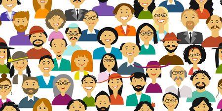 Groupe de personnes, arrière-plan pour votre conception. Illustration vectorielle Vecteurs