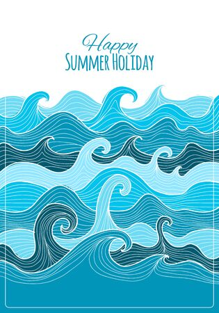 Abstract sea background for your design. Vector illustration Standard-Bild - 128175291