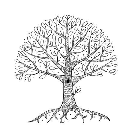 Baum mit Wurzeln für Ihr Design Vektorgrafik