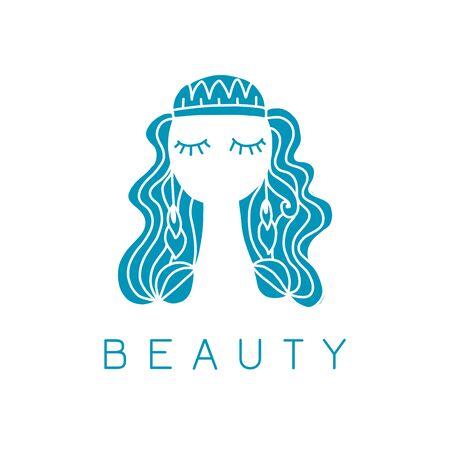 Beauty salon, spa. Female face Ilustración de vector