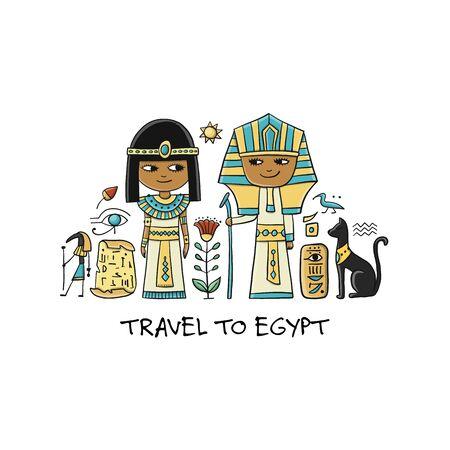 Viaja a Egipto. Tarjeta de felicitación para tu diseño