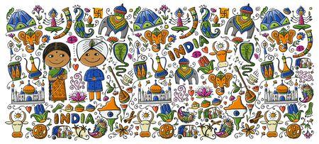 Indischer Lebensstil. Skizze für Ihr Design. Vektor-Illustration Vektorgrafik