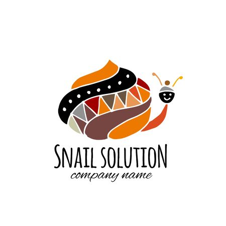Funny snail for your design