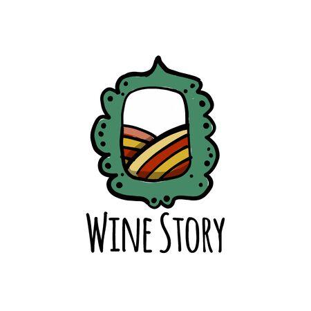 Wine label for your design Stock Illustratie