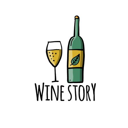 Wine label for your design Ilustração