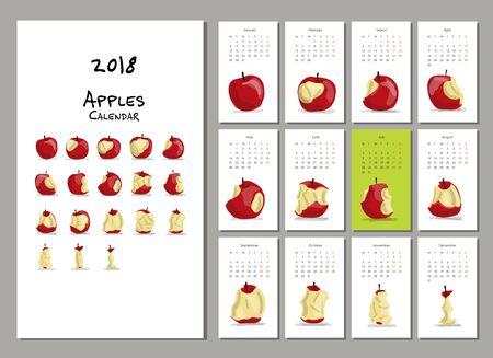 Apple year, calendar 2018 design