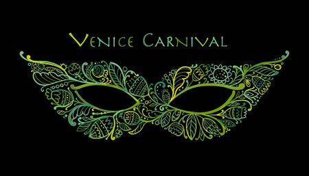 Carnival venetian mask ornamental for your design