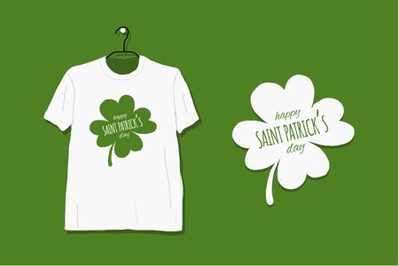 Saint Patrick Day. Greeting card for your design